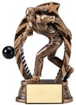 Antique Bronze and Gold Award -Bowling Male Bowling Trophy Awards
