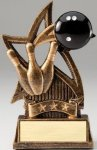Star Series Sculpted Antique Gold Resin Trophy -Bowling Bowling Trophy Awards