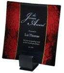 Laserable Glass Tray Red Employee Awards