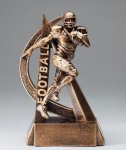 Ultra Action Series Sculpted Antique Gold Resin Trophy -Football Fantasy Football