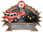 Resin Plate - Fire Fighter Fire and Safety Awards