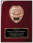 Rosewood Piano Finish Plaque Fire / Police / EMS