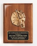 Piano Finish Plaque with Metal Casting Fire Police EMS