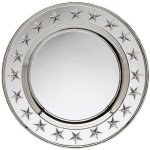 Round Plate Silver With Stars Secretary Gift Awards