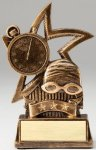 Star Series Sculpted Antique Gold Resin Trophy -Swim Swimming Trophy Awards