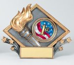 Resin Diamond Plate -Victory Victory Trophy Awards